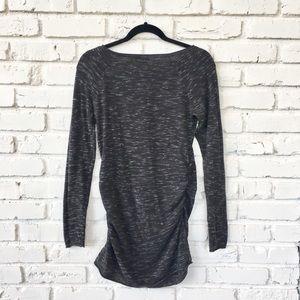 c449fb99657f3 Liz Lange Sweaters - {Liz Lange}Maternity Pewter/Heather Tunic